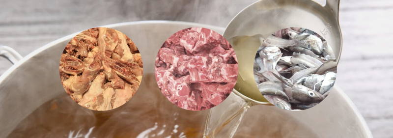 Animal bone raw materials_