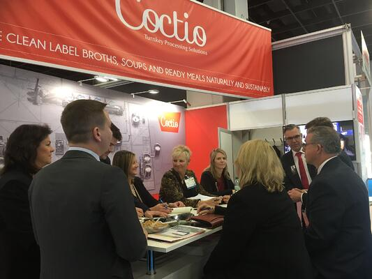 Partner meeting at Coctio stand - Anuga FoodTec 2018