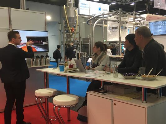 Coctio's bone broth process introduction to our client at Anuga FoodTec 2018