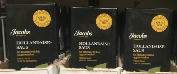 Jacobs' natural ready sauces are hitting retail shelves now in Norway